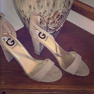 G by Guess ankle-strap heels